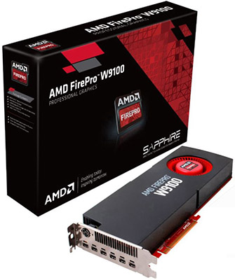 Carte graphique 3D ATI Firepro W9100 16GB DDR5 PCIe 3x
